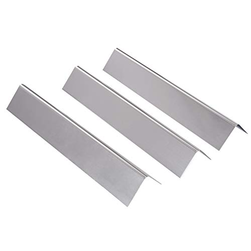 GasSaf JX635 Stainless Steel Flavorizer Bars BBQ Gas Gills Heat Plate Replacement for Weber Spirit 200 and E210 Series Gas Grills, by (3 Packs)