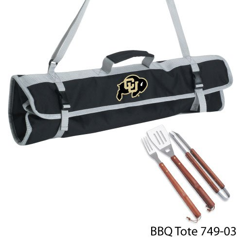 PICNIC TIME NCAA Colorado Golden Buffaloes 3-Piece BBQ Tool Set With Tote