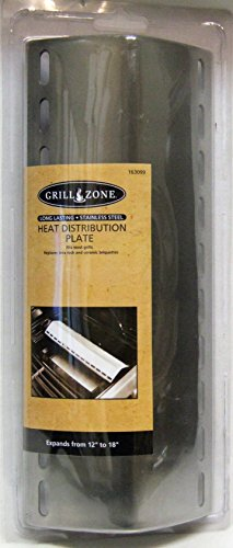 Propane BBQ Grill Stainless Steel Heat Distribution Plate Shield Expands 10.25″-18″ Grill Zone 163099 43232