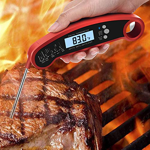 EKPO Best Waterproof Digital Meat Thermometer. Gives an Instant Read. Easy to Use. Top Grade Version. Perfect for Grilling and Cooking. Great for BBQ,Chicken, Turkey, Liquids, etc.
