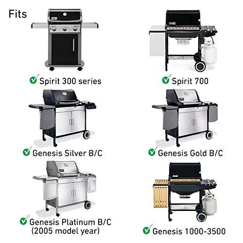 Uniflasy Cooking Grid Grates Replacement Parts for Weber Spirit 300 Series, Spirit 700, Genesis 1000-3500, Genesis Silver B/C, Genesis Gold B/C, Genesis Platinum B/C (2005) (Cast Iron)