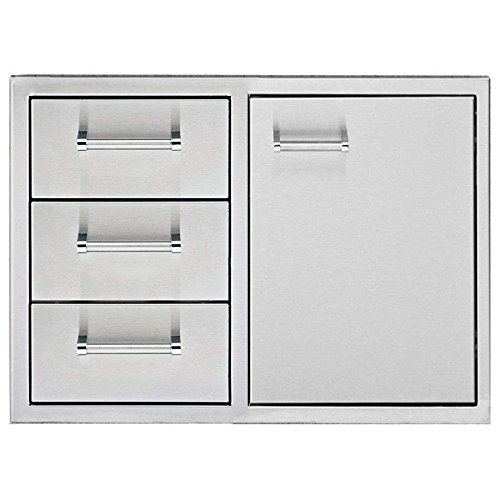 Delta Heat Door 3-Drawer Combo (DHDD303-B), 30-Inch