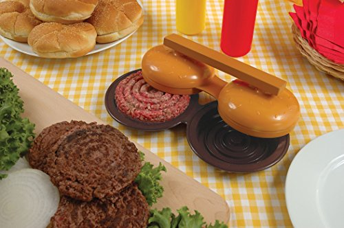 Charcoal Companion Plastic Double Hamburger Grilling Press