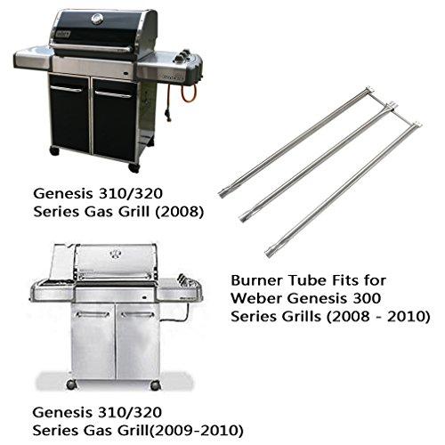 Onlyfire Stainless Steel Burner Tube Set Fits for Weber Genesis 300 Series Grills (2008-2010), 34-1/4″ Long