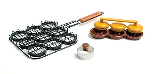 "Charcoal Companion Mini Burger ""Sliders"" Grilling Set"