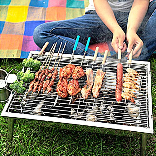 NAFURNO Portable Charcoal Grill Folding Stainless Steel Barbecue Grill Great for Garden Barbecue, Picnics, Outdoor Camp,Adventures