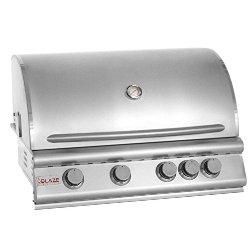 32″ 4-Burner Built-In Gas Grill with Rear Infrared Burner Gas Type: Propane