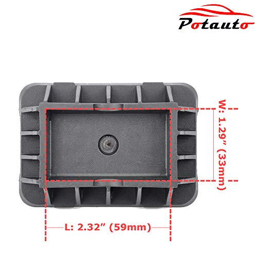 Potauto Upgraded 51717237195 Car Jack Lift Pad Puck Support for BMW 1 3 5 6 7 X1 M3 M5 M6 Series, Mini Cooper (Qty 1, 51717237195)