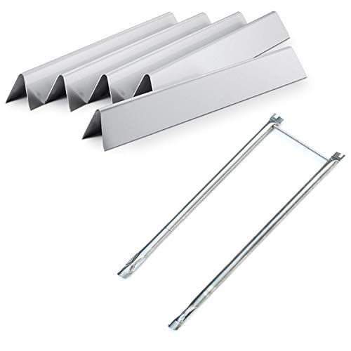 Direct store Parts Kit DG227 Replacement Weber 2241298, 2271411; Spirit 500 and Genesis Silver A Grills Burner & Heat Plate (SS Burner + SS Heat Plate)