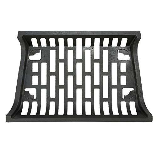 "Pinty 24"" Heavy Duty Fireplace Log Grate for Outdoor Fire Place Kindling Tools Pit Wrought Iron Wood Stove Firewood Burning Rack Holder Black"