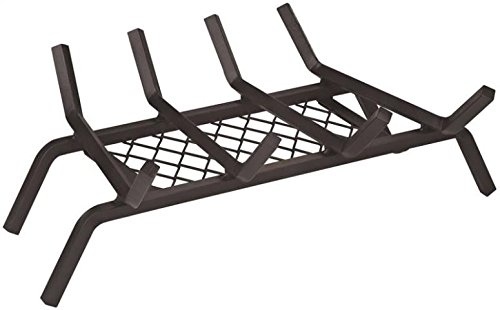 "Rocky Mountain Goods Fireplace Grate with Ember Retainer – 1/2"" Heavy Duty Cast Iron -Heat treated for hottest fires – Retainer for cleaner more efficient fire – Weld has (18″)"
