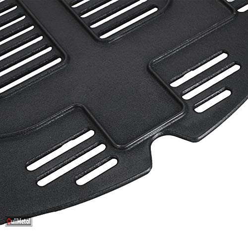 QuliMetal Cast Iron Grill Cooking Grate Grid Replacement Parts Accessories for Weber Q300, Q3000 Series Gas Grills