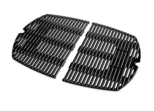 soldbbq Porcelain-Enameled Cast-Iron Cooking Replacement Grates for Weber Q3000 Grills