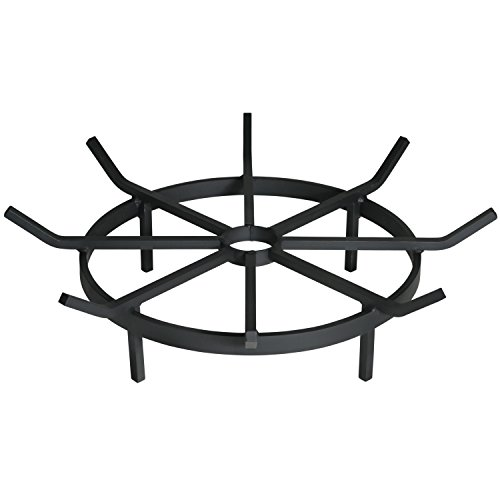 Heritage Products Wagon Wheel Grate for Outdoor Fire Pit, 24″