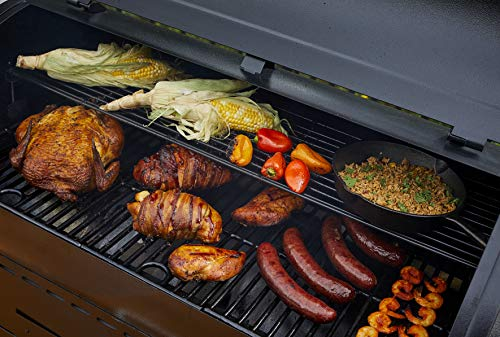 Pit Boss Grills PB1000SC Pit Boss 1000 sq in Wood Fired Full Lower Cabinet and Flame Broiler Pellet Grill, Black