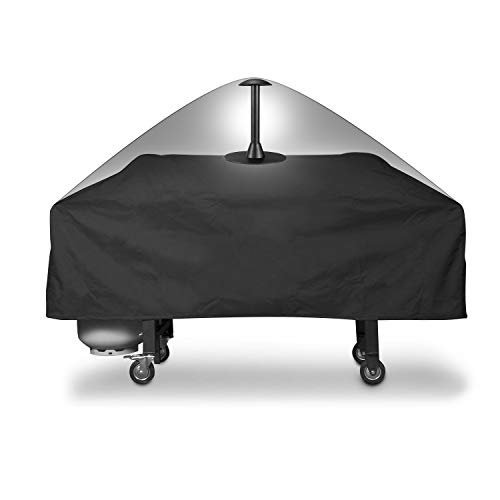 SunPatio Grill Griddle Cover for Blackstone 36 Inch Griddle, Heavy Duty Flat Top Griddle Cover with 12 Inch Support Pole, Weatherproof Barbecue Cover, Black