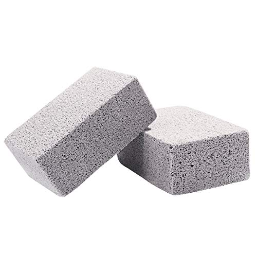 BESTONZON 2Pcs Ecological Odorless Grilling Stone Cleaner, Pumice Stone Grill Block for Cleaning Grills