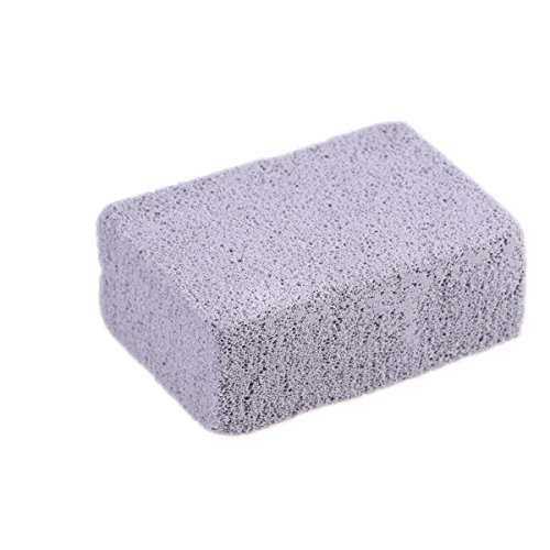 OUNONA Grill Griddle Cleaning Brick Block Reusable Ecological Grill Cleaning Brick, De-Scaling Cleaning Pumice Stone for Removing Stains BBQ Cleaning (Grey)