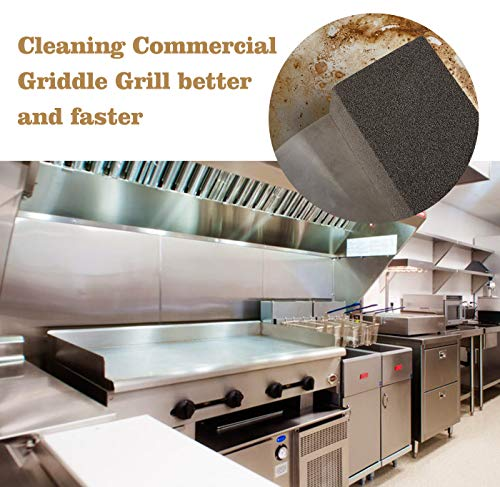 GASPRO Grill Griddle Cleaning Brick, Commercial Grade Pumice Stone Tool Cleans & Sanitizes Restaurant Flat Top Grills or Griddles, Easily Removes Stubborn Grime Without Harsh Chemicals or Abrasives.