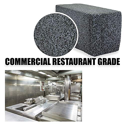 NOBLJX 2Pcs Grill Brick Block Griddle Stone Cleaner Ecological Pumice Stone Removes Encrusted Greases for Cleaning Grills or Griddles Reusable De-Scaling Stones
