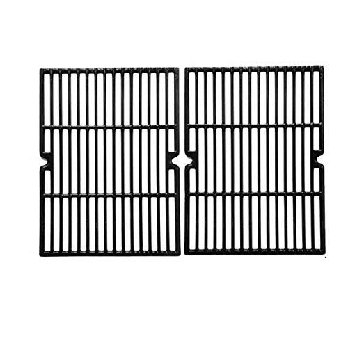 Cast Iron Replacement Cooking Grids for Kenmore 415.16657900, 415.16657900G, Charbroil 466268008, 463261006, 415.16657900 and Master Forge GGP-2501 Gas Grill Models, Set of 2