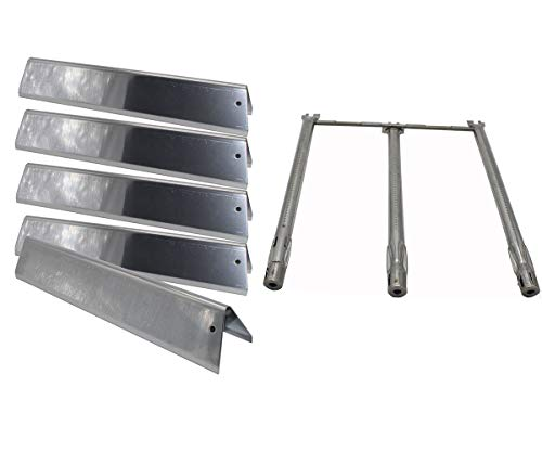 Grill Valueparts 7636, 69787 for Weber Spirit E310, E320, S310 and S320 (2013-2017) – Stainless Steel 5 Flavorizer Bars and One Tube Burner