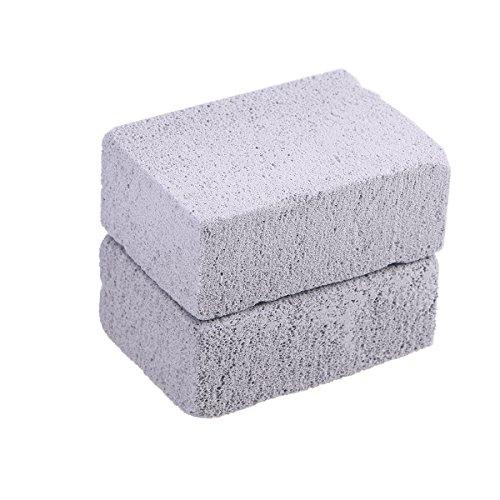 BESTONZON 2pcs Grilling Stone Cleaner Ecological Stone Cleaner Pumice Stone Grill Block for Cleaning Grills or Griddles Reusable De-Scaling Stones