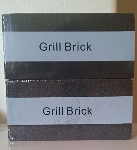 2 Packs–8″x 4″x 3 1/2″–Grill Cleaning Brick, Grilling Stone Cleaner–Descaling BBQ Block Construction, Removes Encrusted Greases, Stains Residues, Dirt and More—BLACK–Reusable Stones