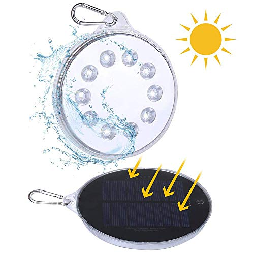 Solar Camping Light, Magnetic Solar-Powered White LED Light Waterproof IPX7 Portable Spotlight Dual Solar and USB Charging Lantern Outdoor Activities, Hiking, Exploration Cellphone Emergency Charging