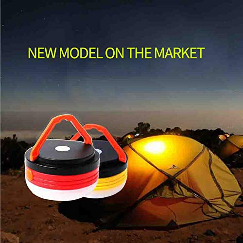 F·JIEHO LED Portable Super Bright Camping Lanterns Foldable Lights Reading Lights Work Lights Can Also be Used for Outdoor Garden Fishing