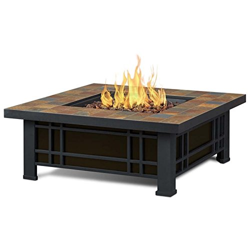 Real Flame 906LP-NST 906LP Morrison Propane Fire Pit, Black