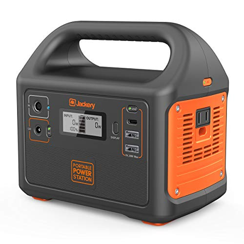 Jackery Portable Power Station Explorer 160, 167Wh Lithium Battery Solar Generator Backup Power Supply with 110V/100W(Peak 150W) AC Outlet for Outdoors Camping Fishing Emergency