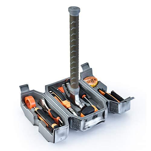 Avengers Marvel Legends Series Mjolnir Hammer Tool Kit,Daily Repair Filled Household Tool Case Pliers ect DIY Repair Kits Multi Tools Thor Hammer Accessories Set