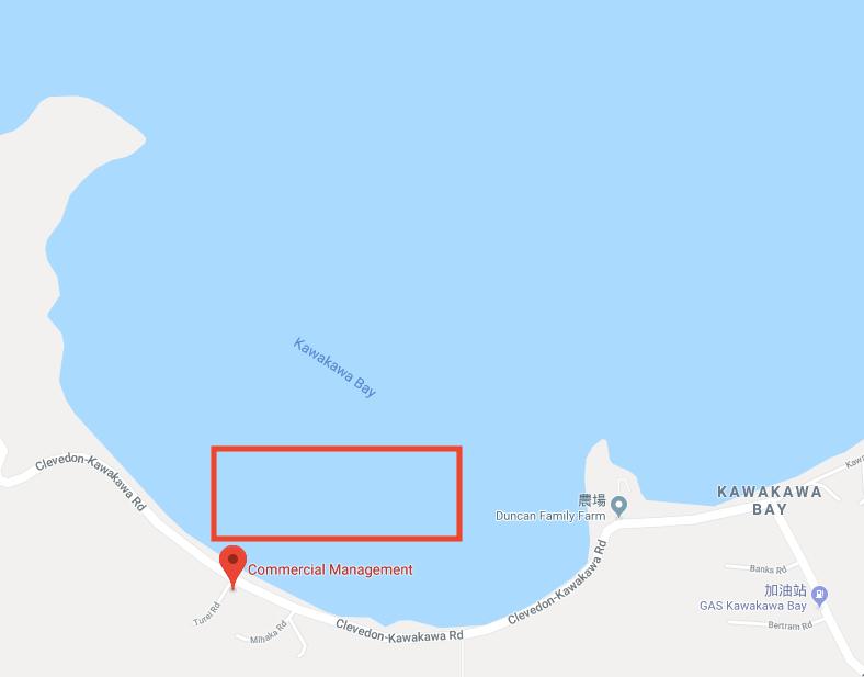 ▲Kawakawa Bay 抓取COCKLES地點