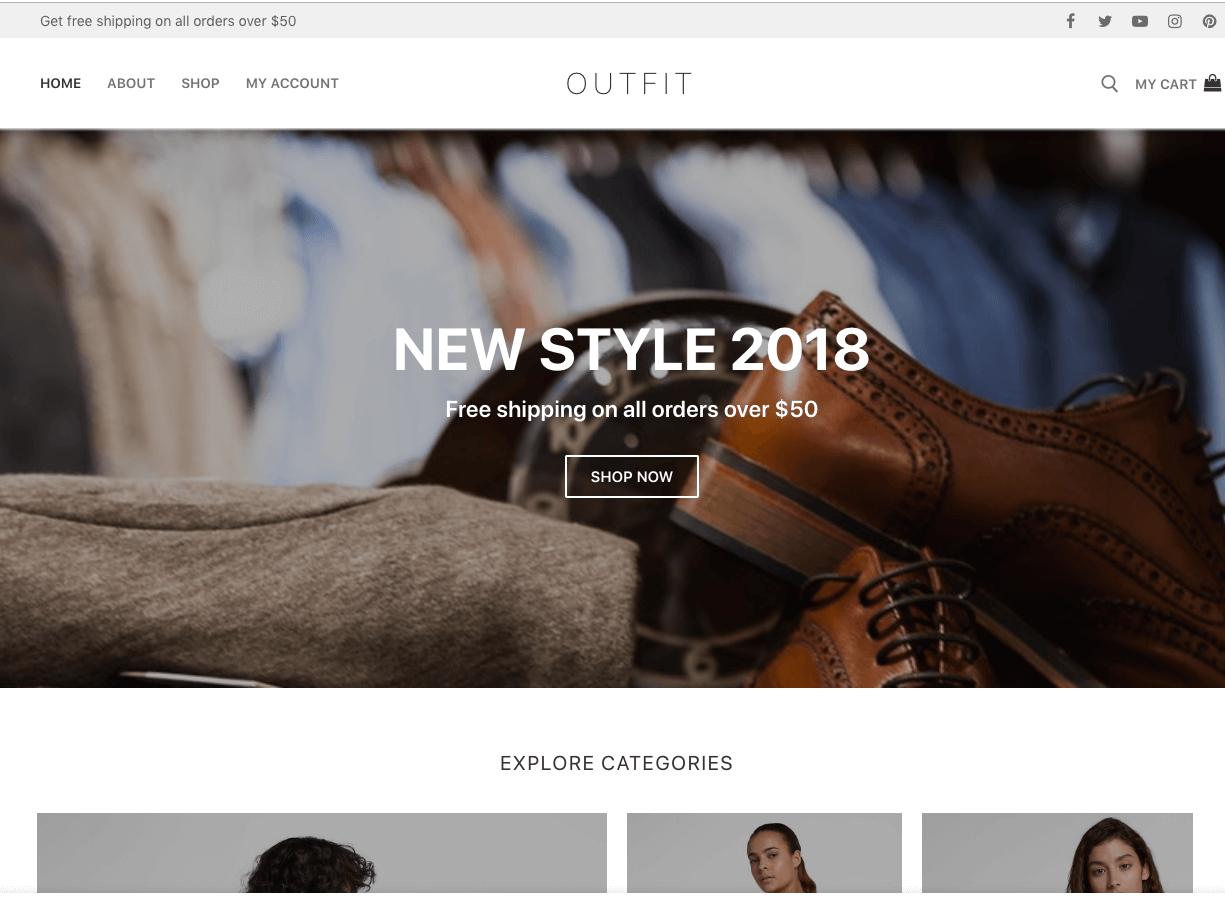 customify wp theme