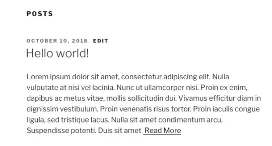 wordpress post excerpt custom read more text