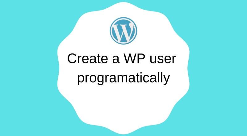 create wp user php