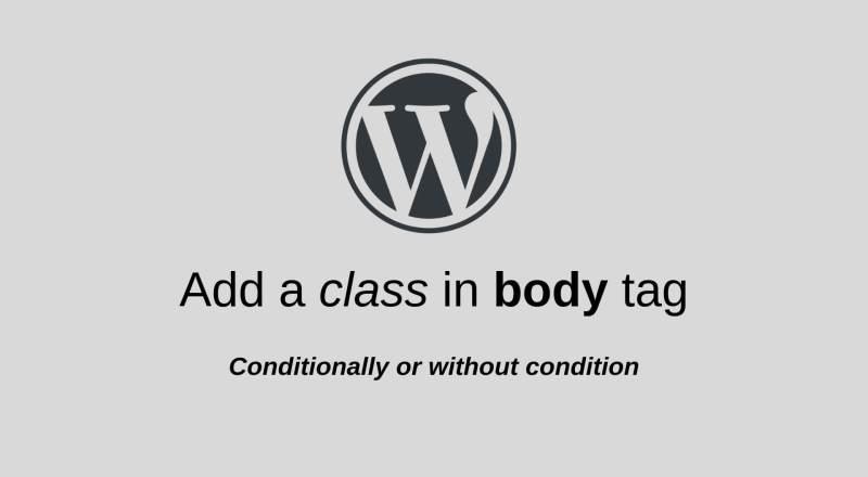 add body class