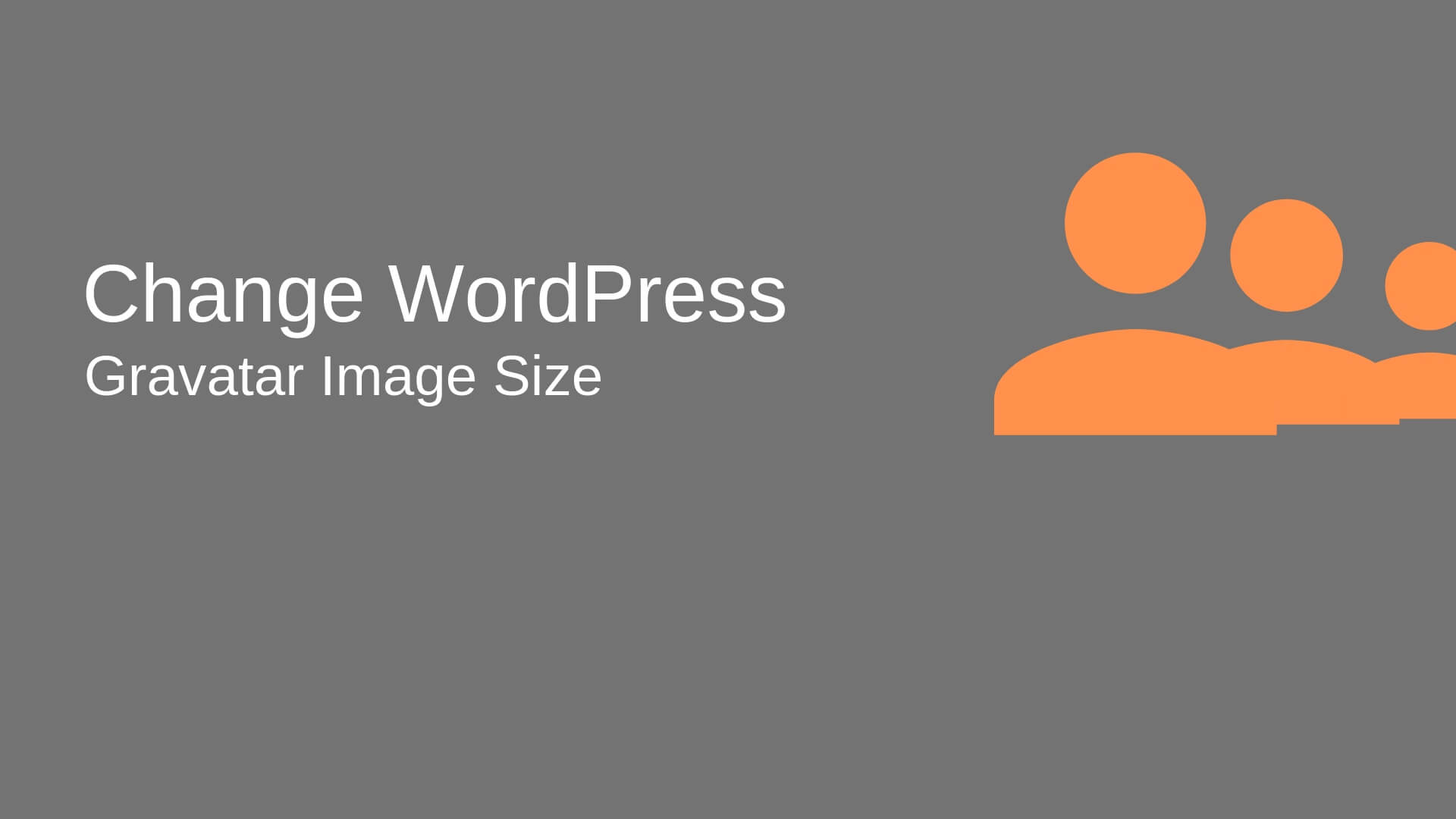 How to Change Gravatar Image size in a WordPress site