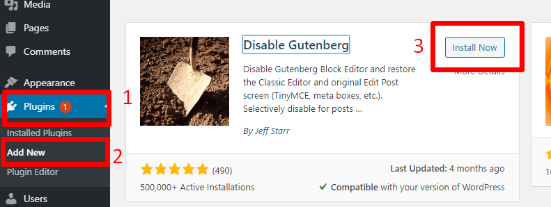 How To Disable Gutenberg In WordPress Easily
