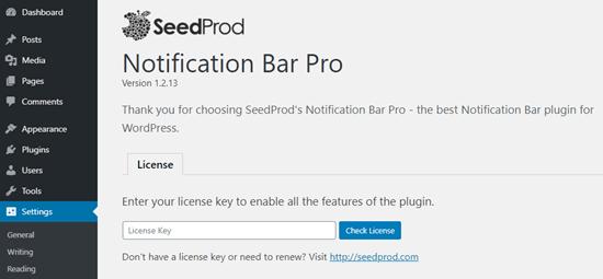 Installing the Notification Bar Pro plugin
