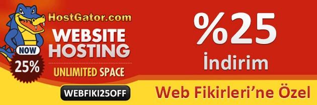 Host Gator Web Fikirleri %25 Özel İndirimi