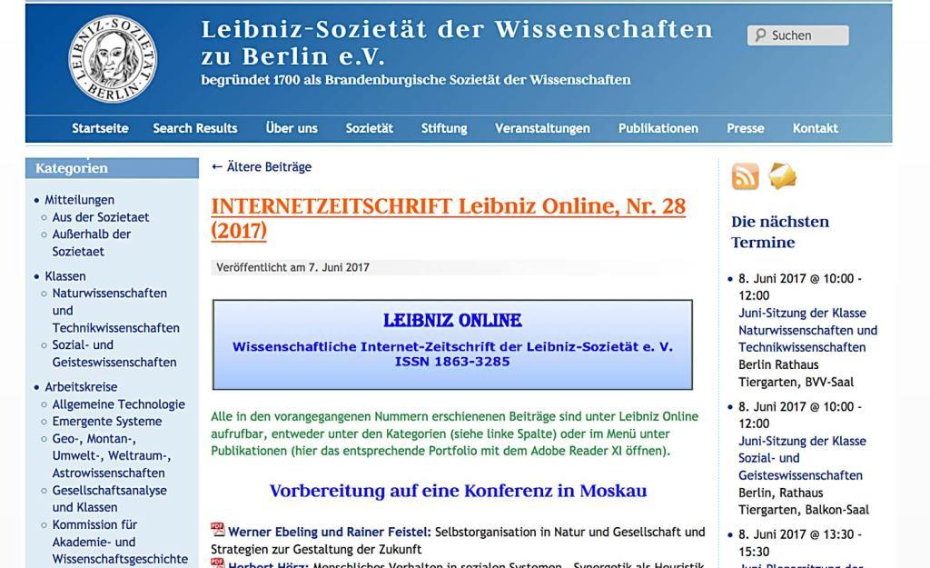 Leibniz Sozietaet 1