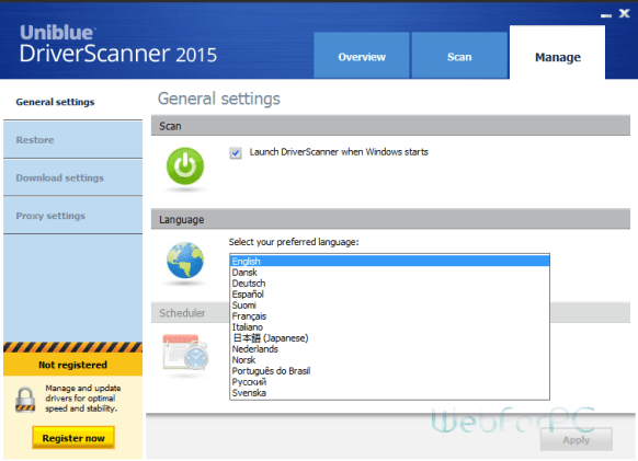 Uniblue Driver Scanner 2015 Free