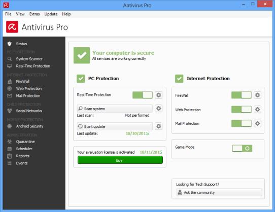 Avira Antivirus Pro 2016 Free