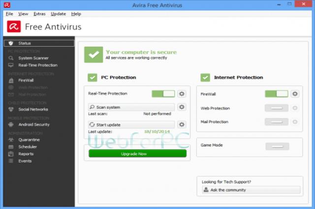 Avira Free Antivirus Download for Windows