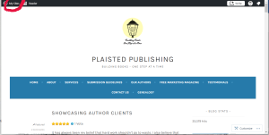 """The WordPress website, with the """"My Sites"""" tab circled in red in the top left corner."""
