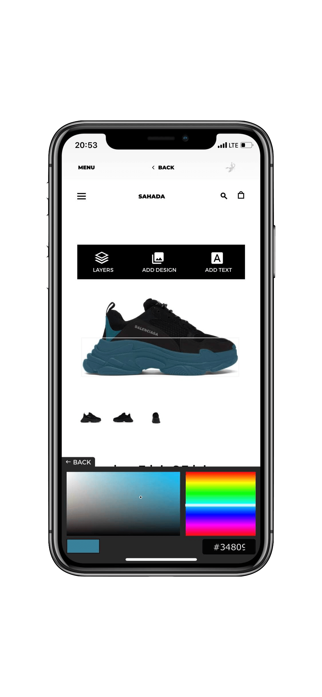 Application Development for Sahada Sneakers