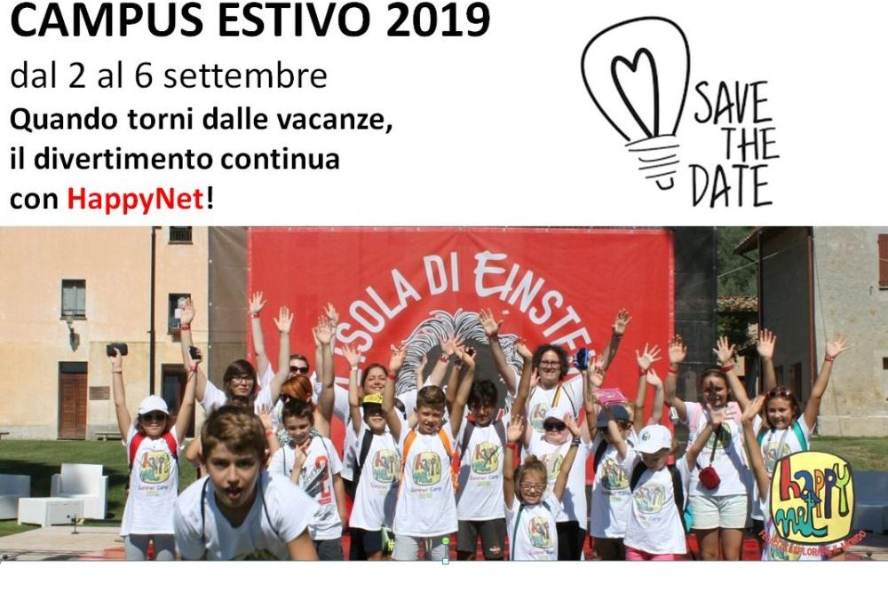 HappyNet 2019: dal 2 al 6 settembre un nuovo strabiliante Innovation Summer Camp #savethedate