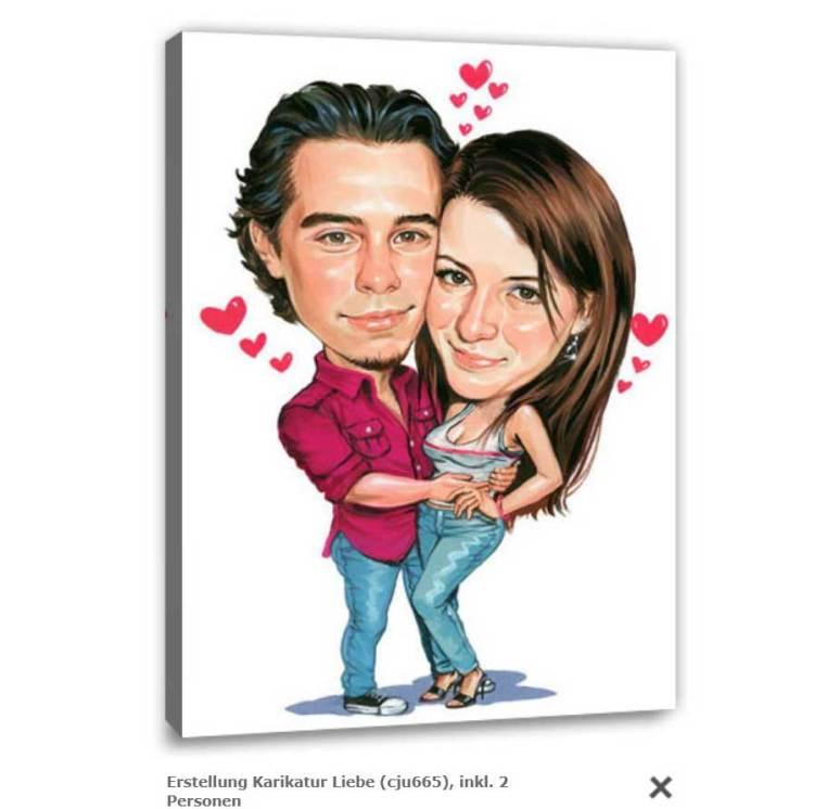 Karikatur als Valentinsgeschenk